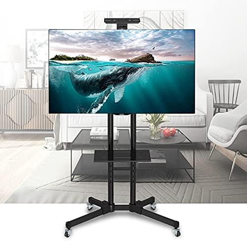 """Soporte TV Suelo Portatil en Ruedas para 32""""-65' Pantallas - Antivuelco y Ultraestable Exhibición Móvil Carrito para LED LCD HDR TVs - MAX VESA 600x400mm"""