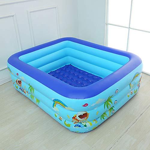 ZXHFDC Piscinas inflables, Piscina acolchada para nadar, jugar a dormir, Inflables familiares rectangulares gruesos de 3 capas Juego de juguetes de jardín para interiores y exteriores para niños adult