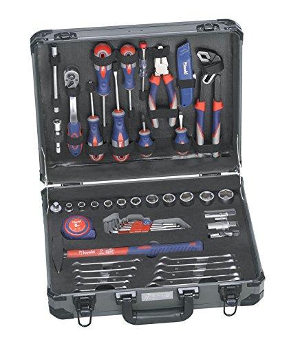 kwb Werkzeug-Koffer inkl. Werkzeug-Set, 51-teilig, gefüllt, robust und hochwertig, ideal für den Haushalt oder die Garage, im praktischen Kunststoffkoffer