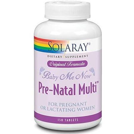 Solaray Baby Me Now Prenatal Multi Orig Form   150 Count