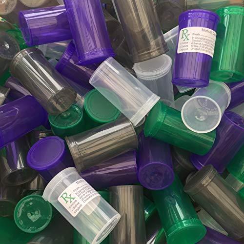 BIGSMOKESUPPLIES (225X) 19DR 19 Dram Pop Top Flesjes - 3.5G Gram Holding - RX LABELS INCLUDED & KLEUREN BESCHIKBAAR - VOLLEDIGE BOX