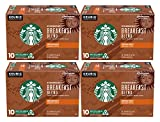 Starbucks Medium Roast K-Cup Coffee Pods, Breakfast Blend for Keurig Brewers, 10 Count Boxes, 4 Boxes (40 Pods Total)