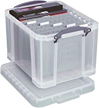Really Useful Boxes(R) Plastic Storage Box, 32 Liters, 12in.H x 14in.W x 19in.D, Clear, 32C