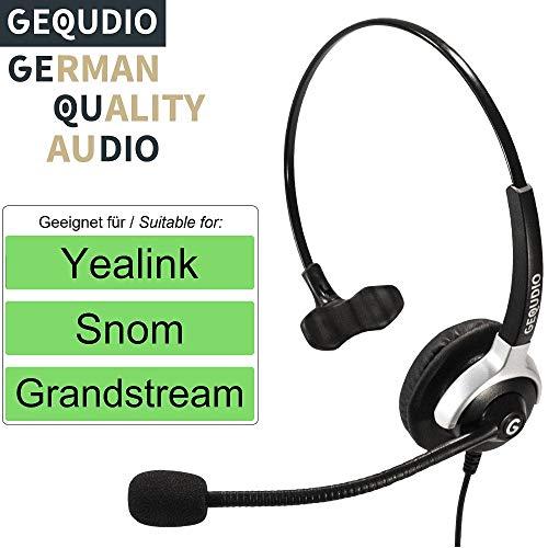 Auricular con micrófono para Yealink, Snom y Grandstream teléfonos con conector RJ | 60 g de peso