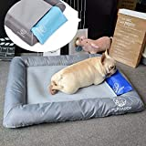 Foraging hamster Perro Mascota pequeña Dog Cat Nest Pad Cooling Seasons Disponible Todo Extraíble Y Lavable Kennel Ice Pad Pet Supplies Gray 70 * 60CM Gato