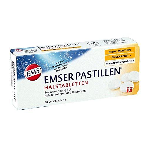 EMSER Pastillen Halstabletten ohne Menthol zuckerfrei, 30 St. Tabletten