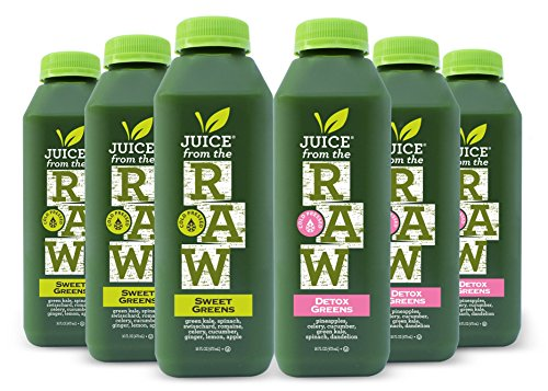 Juice Cleanse - Maintenance Greens by Juice From the RAW® - Most Popular Juice Cleanse to Lose Weight Quickly / Detoxify Your Body / 100% Raw Cold-Pressed Juices (30 Total 16 oz. Bottles)