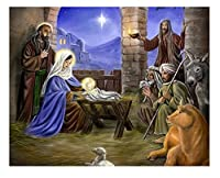 数字によるフレームペインティングキャンバスに描かれた宗教大人のための数字による写真イエス手描きのウォールアート 40 * 50 cm(フレームなし)