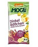 MOGLi Bio Demeter Dinkelbällchen 10er Pack, (10 x 50g) (Curry Banane)