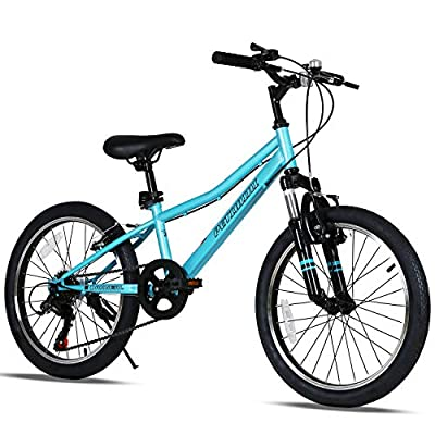 Petimini 20 Inch Kids Mountain Bike for Boys Bike 5 6 7 8 9 Years Old Youth Bicycle Blue Cyan