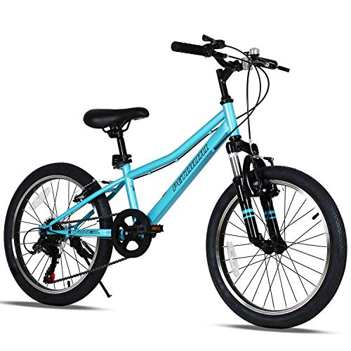 Petimini 20 Inch Kids Mountain Bike for Boys Bike 5 6 7 8 9 Years Old Youth Bicycle Blue Cyan
