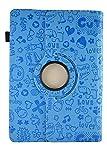 Theoutlettablet Funda de diseño Original Azul de Dibujos y función Giratoria para Tablet SPC Glow/Gravity/Heaven/Twister 10.1'