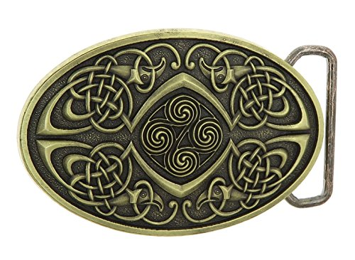Celtic Knot Oval Bronze Belt Buckle