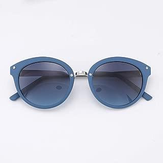 LUKEEXIN Vintage Round Sunglasses for Women, Classic Designer Style, UV400 (Color : Blue)