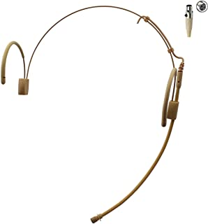 Pro Earhook Headset Headworn Omnidirectional Microphone JK MIC-J 060 Compatible with AKG Samson Wireless Transmitter - Mini XLR TA3F Plug