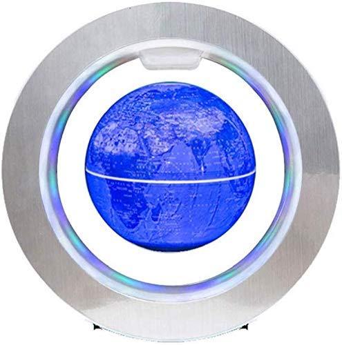 JJDSN Drijvende Globe Met LED Lichten Magnetische Levitatie Drijvende Globe Wereld Map,4 Inches, Model 00911,A