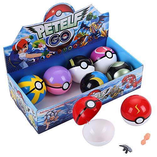 Pokemon, 8 Poke Bolas Pokeball, 16 Pokemon Figuras de Accion, Regalos y Fiestas para Ninos