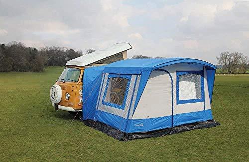 Just Kampers Retro Awning RHD Blue/Grey Compatible with VW Transporter Campervans