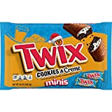TWIX Cookies And Creme Christmas Fun Size Candy Bars, 9 oz Bag