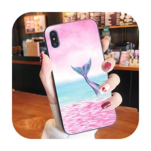 Schutzhülle für iPhone XR X 8 7 6 Plus, Motiv: Meerjungfrauenfisch