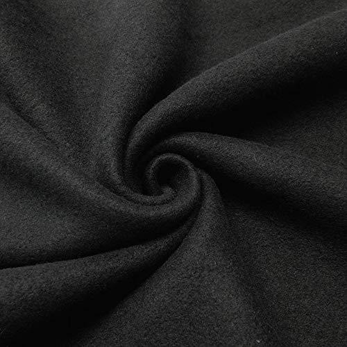 Barcelonetta   Fleece Fabric   2 Yards   72'X60' Inch   Polar Fleece   Soft, Anti-Pill   Throw, Blanket, Poncho, Pillow Cover, PJ Pants, Booties, Eye Mask (Black, 2 Yards)