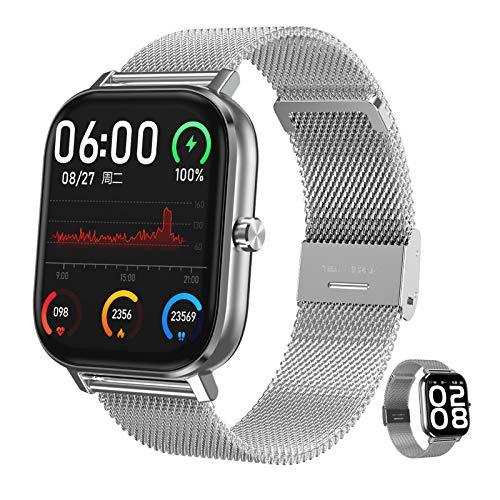 HQPCAHL Smartwatch, Fitness Armband Tracker Voller Touch Screen Uhr IP67 Wasserdicht Armbanduhr Smart Watch Mit Schrittzähler Pulsmesser Stoppuhr Für Damen Kinder Sportuhr Für Ios Android
