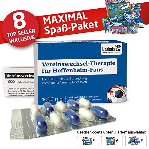 Hoffenheim Fahne ist jetzt das MAXIMAL SPAß Paket für TSG-Fans by Ligakakao.de   große Hissfahne mit Vereins Logo, blau-weiß
