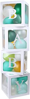 Baby Shower Decorations Balloons Box, DIY Transparent Baby Shower Boxes Decor for Gender Reveal Party Supplies, Birthday P...