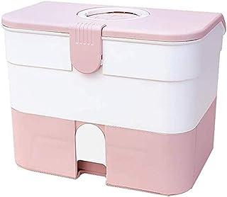 AINIYF Storage Box Lock Drug Box Protection Prescription Medicine Box Medicine Storage Box Medical Box (Color : Pink)