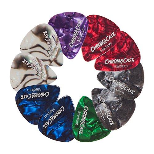 ChromaCast Pearl Celluloid Guitar Pick 10 Pack, Medium Gauge (.73mm)