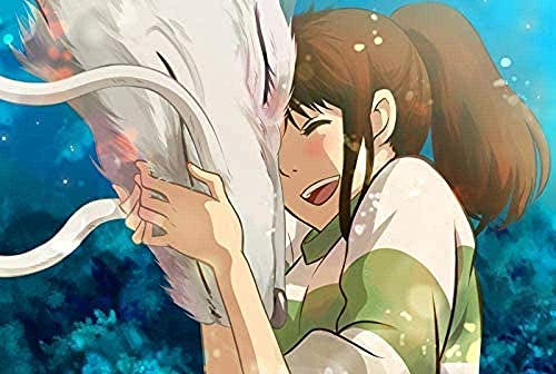 BBSJX Rompecabezas De El Viaje De Chihiro, 1000 Piezas, Juego De Niños Adultos, Juguete Educativo, Dibujos Animados De Anime, Rompecabezas De Madera 50X75Cm