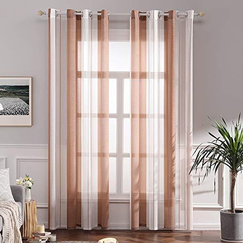cortinas salon naranjas modernas