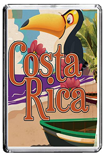 B068 COSTA RICA FRIDGE MAGNET COSTA RICA VINTAGE TRAVEL PHOTO CALAMITA DA FRIGO