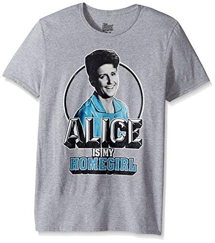 CBS Unisex-Adults Brady Bunch Alice is My Homegirl Short Sleeve T-Shirt, Heather Grey, Large