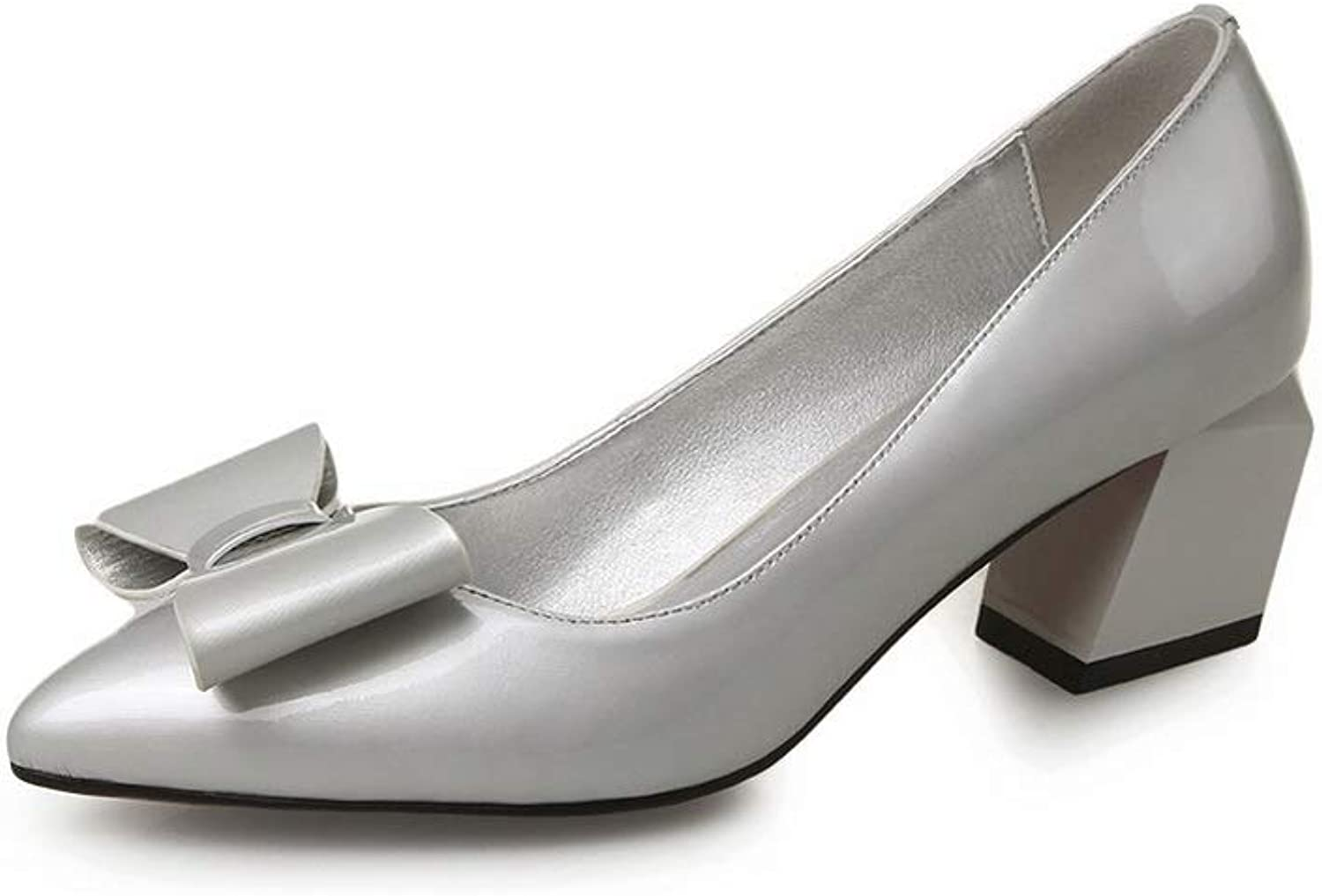AdeeSu Womens Bows Business Solid Urethane Pumps shoes SDC06292