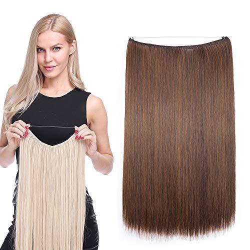 Extension Cheveux Fils Transparant Fil Invisible Cheveux Lisse Monobande - Extension Cheveux Synthétique 20 Pouces - Hair Extensions - 2/30
