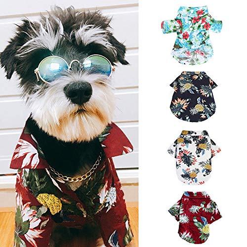 NIBESSER Hundehemd Hawaiihemd für Hunde Hundebekleidung Cool und Atmungsaktiv Hemd für Hunde