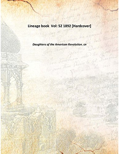 Lineage book ... 1894-1900 [Hardcover]
