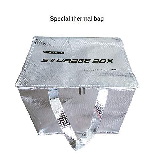 LLKK trolley Folding trolley storage box with wheels Insulationbags