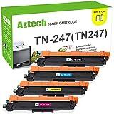 Aztech Compatible pour Brother TN247 TN243 TN-247BK TN-247C TN-247M TN-247Y pour...