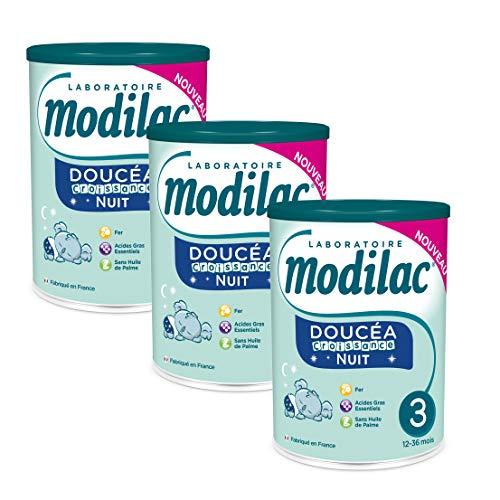 Laboratoire Modilac - Lait Infantile en Poudre Doucéa Croissance Nuit - 12-36 mois - 800g - Lot de 3