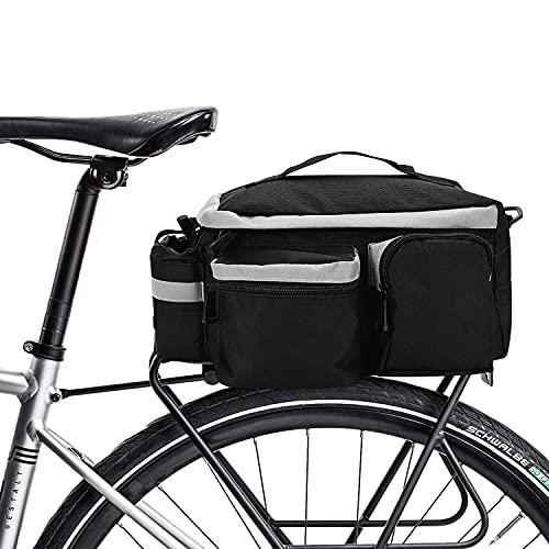 Gohytal Borsa da Bicicletta Posteriore, Borse Bici Posteriore Laterali Multifunzionale, Borsa Bici da Ciclismo con Striscia Riflettente,Perfetta per Ciclismo, Viaggi, Pendolari, Campeggio e all aperto