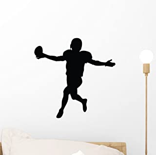 Wallmonkeys Football Silhouette Wall Decal by Peel and Stick Graphic (12 in W x 12 in H) WM79230
