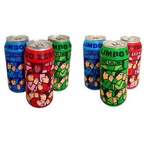 MIKKELLER - CERVEZAS SIN ALCOHOL - LIMBO SERIES - Arándanos, Frambuesa y Lima - Pack Degustación 6x33cl - 3 Variedades