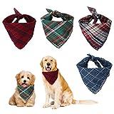 4pcs Bandanas Pañuelos Perro Bandanas de Perro Baberos para Mascotas Pañuelo Bufanda de Mascota de Algodón Baberos Lavables de Perros para Perros y Gatos (4 Colores, 45 * 45cm)