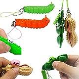 YH&GS 4PCS Caterpillar Pea Peanut Fidget Toy Popper,...