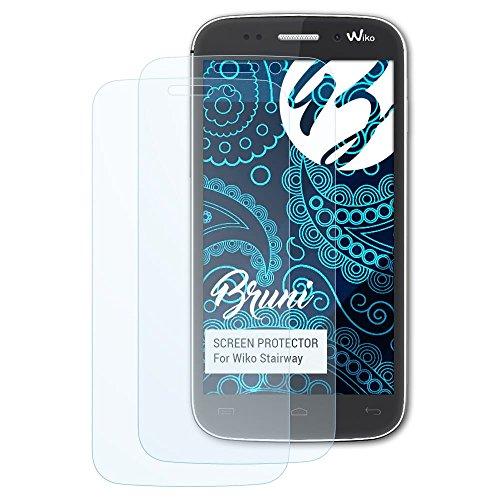 Bruni Schutzfolie kompatibel mit Wiko Stairway Folie, glasklare Bildschirmschutzfolie (2X)