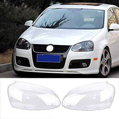 LSJGG Scheinwerfer-Kopf-Lampen Objektive Klar Linsenabdeckungen for VW Volkswagen Golf 5 MK5 Jetta 2005-2009 Auto Mithelfer 2ST Scheinwerferabdeckung