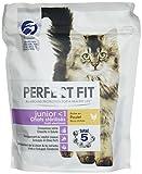 Perfect Fit Junior - Crocchette per gattini e gatti sterilizzati giovani, ricchi di pollo, 6 sacchetti da 400 g