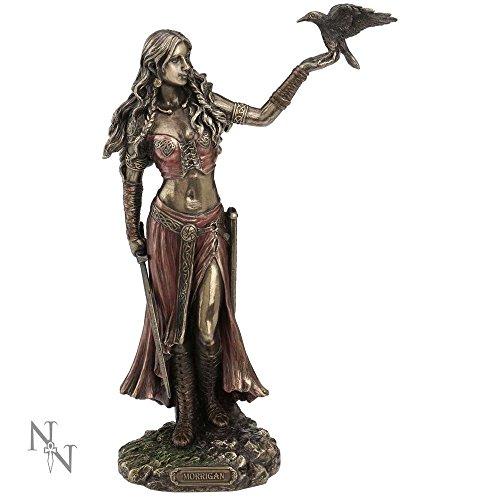 Nemesis Now Morrigan and Crow - Figura decorativa (bronce, 28 cm)